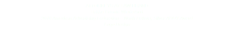 ATTORNEYS AT LAW BRAND Bakke Grinold Wiederholt 2018 American Advertising Federation – North Dakota, Silver ADDY Award Logo Design